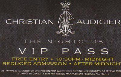 Audigier VIP Pass