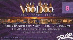 Voodoo VIP Pass