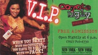 Passes to Coyote Ugly Nightclub