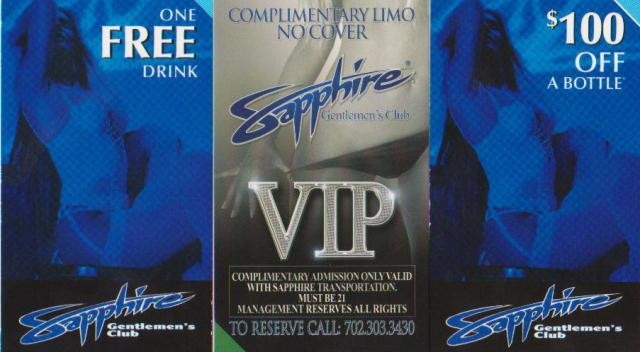 Free Limo Free Drink Free Entry to Sapphire Gentlemens Club