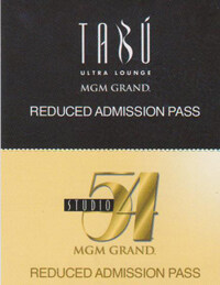 Studio 54 Tabu Reduced Entry Pass