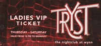 Free VIP Entry to Tryst Nightclub Las Vegas