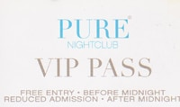 Free VIP to Pure Nightclub Las Vegas