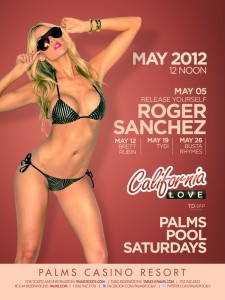 Pool party at the Palms Resort in Las Vegas