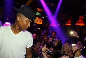 Pharrell Performing at Chateau