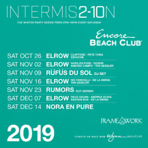 Intermission Encore Beach Club Winter Party Free Entry